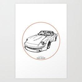 Crazy Car Art 0074 Art Print