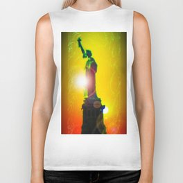 Statue of liberty - Freiheitsstatue New York 10 Biker Tank