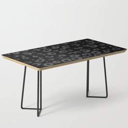 Black and Gray Leopard Coffee Table