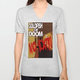 Goldfish of Doom - No Exit Unisex V-Neck