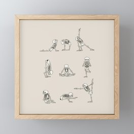 Skeleton Yoga Framed Mini Art Print
