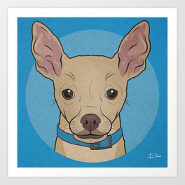 Icons of the Dog Park: Chihuahua Design in Bold Colors for Pet Lovers Art Print
