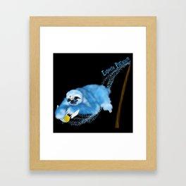 Expecto Patronum Sloth Framed Art Print