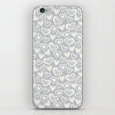 MESSY HEARTS: IVORY GRAY iPhone & iPod Skin