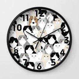 Cats and Dog Wall Clock