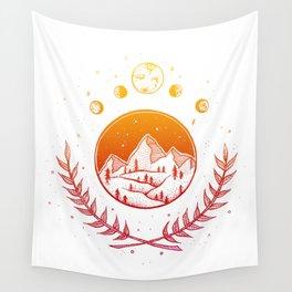 Celestial - Warm palette Wall Tapestry