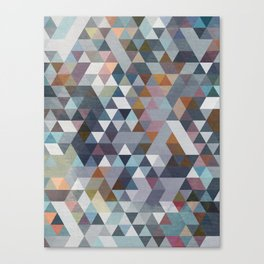 Triangles Pastel 2 Canvas Print
