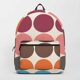 70s Style Clolorful Freehand Retro Dots Backpack