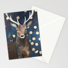 Stag with Tubbs and Goose Stationery Cards