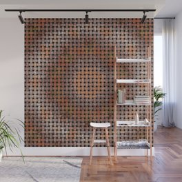 Wooden Circular Wood Weave Pattern Wall Mural