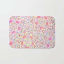 Candyfloss Colors - Doodled Pattern Bath Mat
