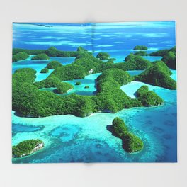 Palau Island Paradise Throw Blanket