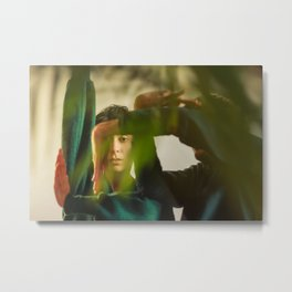 Dancing people, dance, shadows, hands and plants, blurred photography, dancers, forest, yoga Metal Print