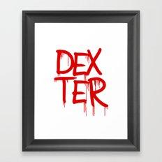 word: Dexter Framed Art Print