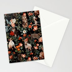 Cat and Floral Pattern II Stationery Cards