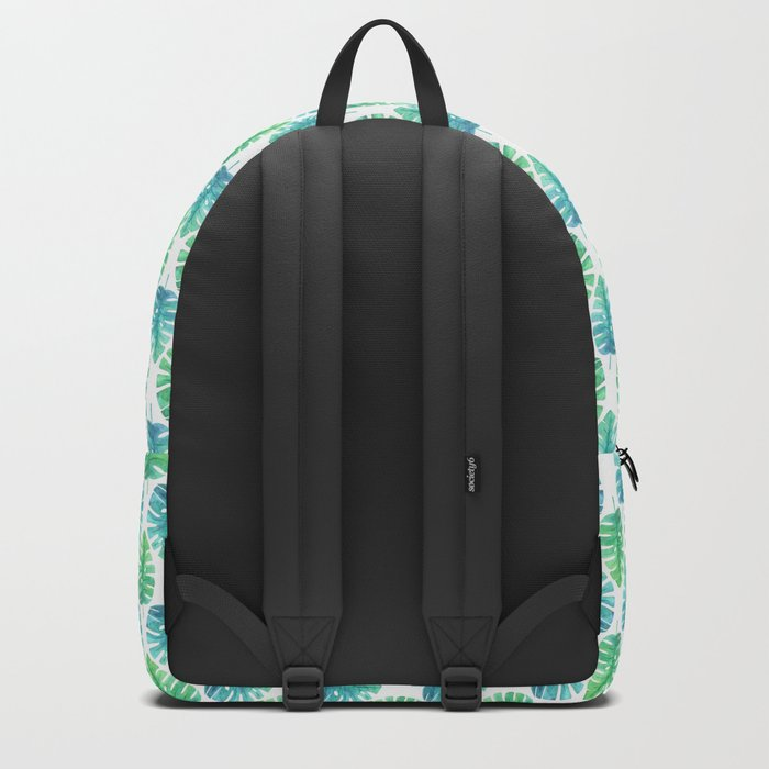 Monstera Tropical Pattern Backpack