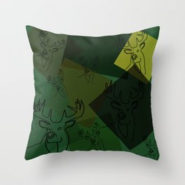 Buck Collage Throw Pillow