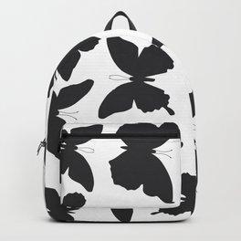black butterflies, cicada silhouette Backpack