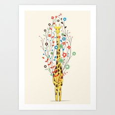 I Brought You These Flowers Art Print