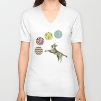 games V-neck T-shirts featuring Ball Games by Cassia Beck
