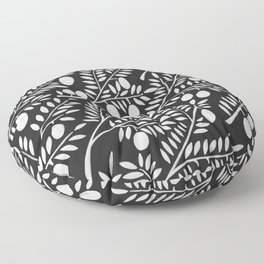 White Olive Branches Floor Pillow