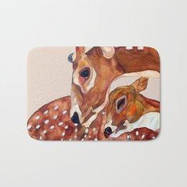 Deer Mother and Child Bath Mat