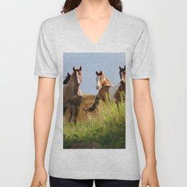 The Wild Bunch-Horses Unisex V-Neck