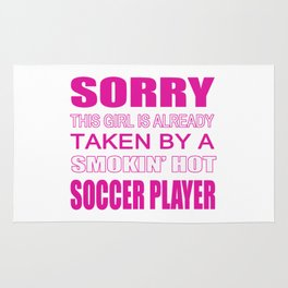 Taken by a Soccer Player Rug