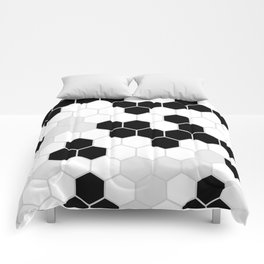 Honeycomb Pattern | Black and White Design | Minimalism Comforters