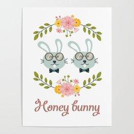 Honey bunny. Gay rabbits couple Poster