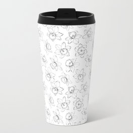 Seamless pattern with flowers narcissus. Travel Mug