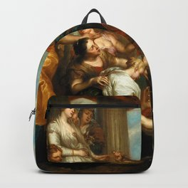 """Sir Anthony van Dyck """"Achilles among the daughters of Lycomedes"""" Backpack"""