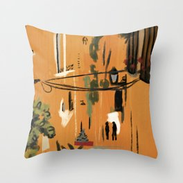 Orange Composition Throw Pillow