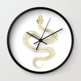 Snake Skeleton – Gold Wall Clock