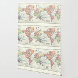 World Map - Colorful Continents Wallpaper