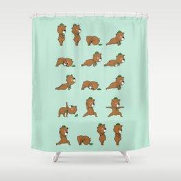 Yoga Bear Shower Curtain