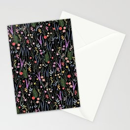 The meadows colorful floral pattern Stationery Cards