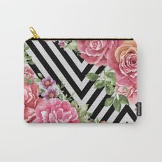 flowers geometric Carry-All Pouch