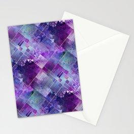 Marbleized Amethyst Stationery Cards