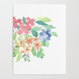 Cluster of flowers Poster