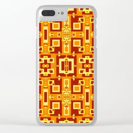 Red, Cream, Gold, Yellow Decorative 2 Clear iPhone Case