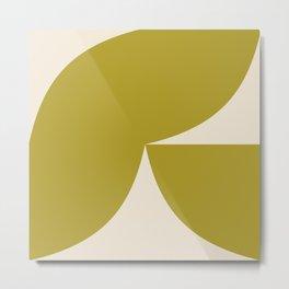 Curvature Minimalism II - Vibrant Green Metal Print