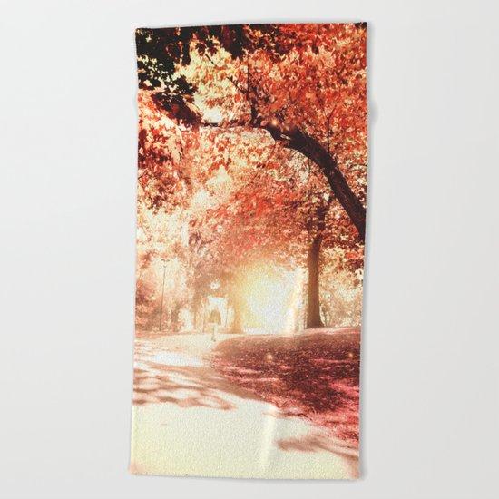 Autumn fall Beach Towel