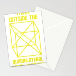 Think Outside The Quadrilateral Parallelogram Math Fan Gift print Stationery Cards