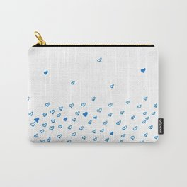 Blue hearts cloud Carry-All Pouch