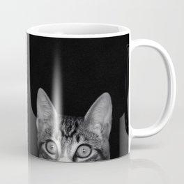 sneaky cat Coffee Mug