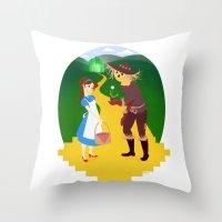 oz Throw Pillows featuring Oz by Kyrstin Avello