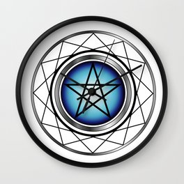 Glowing Pentagram Wall Clock