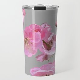 painted plum blossom light grey Travel Mug