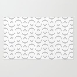 Monochrome wavy pattern. Rug